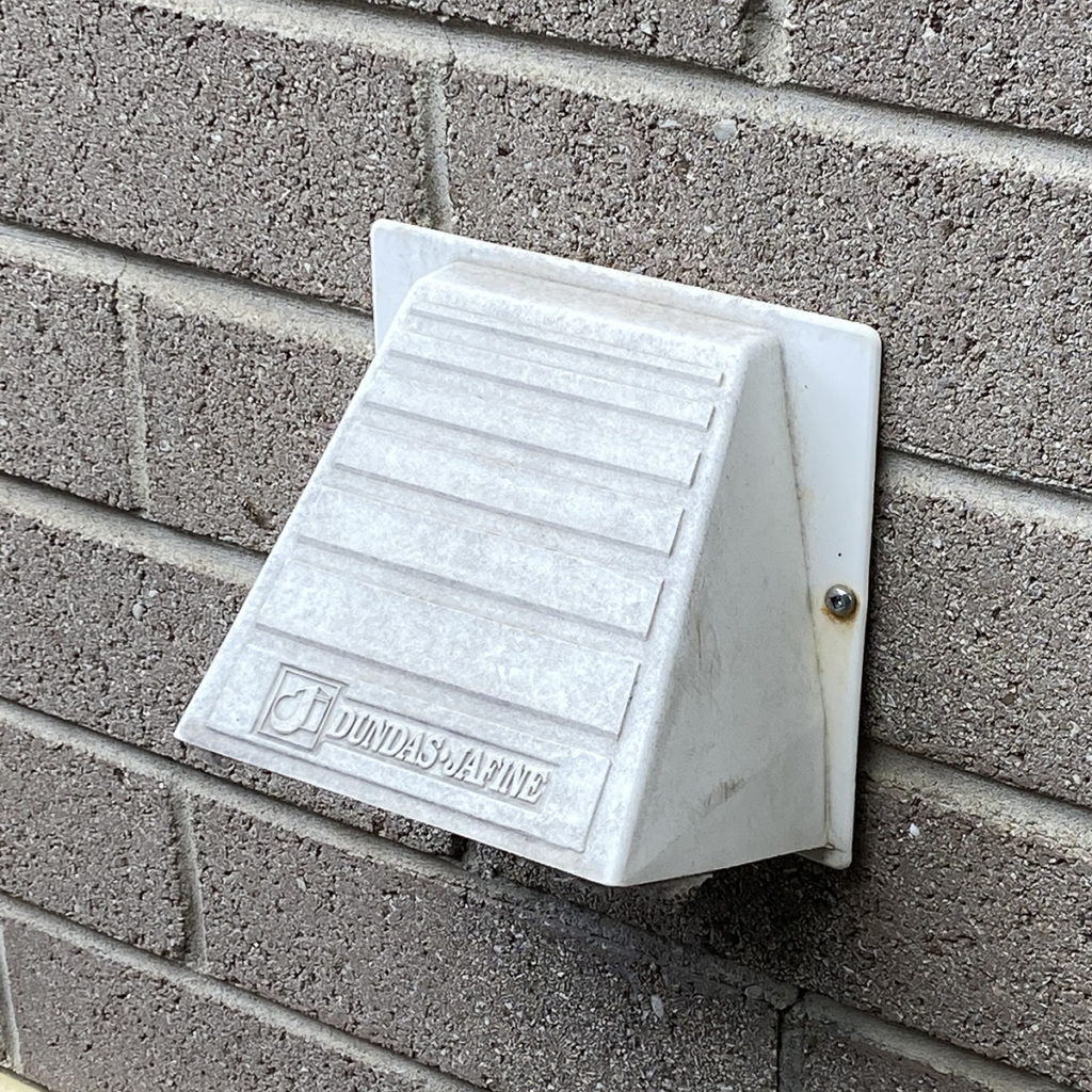 typical dryer vent exhaust
